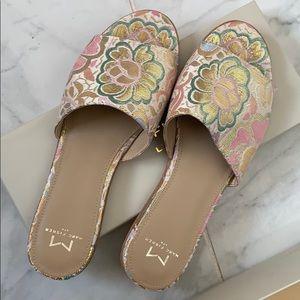 Marc Fisher floral slide sandals